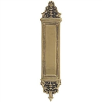 "Brass Accents A04-P5230-610 - Apollo Push Plate 3-5/8"" X 18"" - Highlighted Brass Finish"