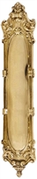 "Brass Accents A05-P4450-605 - Victorian Push Plate 3-1/4"" X 15-1/8"" - Polished Brass Finish"