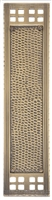 "Brass Accents A05-P5350-609 - Arts & Crafts Push Plate 2-1/2"" X 11-1/4"" - Antique Brass Finish"