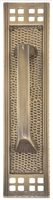 "Brass Accents A05-P5351-619 - Arts & Crafts Pull Plate 2-1/2"" X 11-1/4"" - Satin Nickel Finish"