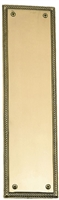 "Brass Accents A06-P0240-619 - Academy Push Plate 3-1/8"" X 12"" - Satin Nickel Finish"