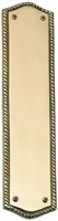 "Brass Accents A06-P0250-609 - Trafalgar Push Plate 2-3/4"" X 11"" - Antique Brass Finish"