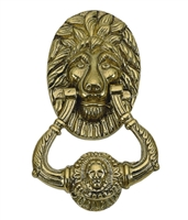 "Brass Accents A07-K5000-605 - Lion Door Knocker 7-1/2"" Polished Brass - Polished Brass Finish"