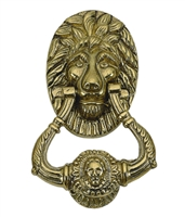 "Brass Accents A07-K5000-609 - Lion Door Knocker 7-1/2"" Antique Brass - Antique Brass Finish"