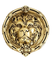 "Brass Accents A07-K5100-609 - Leo Lion Door Knocker 8-3/8"" Antique Brass - Antique Brass Finish"