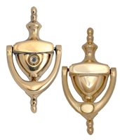 "Brass Accents A07-K6551-619 - Traditional Door Knocker 6"" With Eyeviewer Satin Nickel - Satin Nickel Finish"