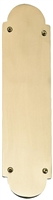 "Brass Accents A07-P0240-619 - Palladian Push Plate 3"" X 12"" - Satin Nickel Finish"
