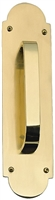 "Brass Accents A07-P0241-605 - Palladian Pull Plate 3"" X 12"" - Polished Brass Finish"