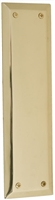 "Brass Accents A07-P5400-605 - Quaker Push Plate 2-3/4"" X 10"" - Polished Brass Finish"
