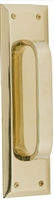 "Brass Accents A07-P5401-605 - Quaker Pull Plate 2-3/4"" X 10"" - Polished Brass Finish"