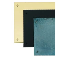 "Brass Accents A09-P0628-622 - 6"" X 28"" Kick Plate Weathered Flat Black Screw Mount - Weathered Black Finish"