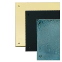 "Brass Accents A09-P0828-628 - 8"" X 28"" Kick Plate Polished Brass-Aluminum Screw Mount - Polished Brass Finish"