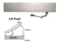 Detex Ao19-1Xlh-Push, Ao19 Series Single Door Left Hand Push Low Energy Automatic Door Operator