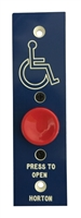 "ADH Select Commercial Automatic Door Push Button Assembly With Handicap Logo And ""Press To Open"" Text For Horton Automatic Door"