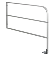"Commando 36"" X 36"" (Horizontal Dimension X Vertical Dimension) Triple Line Wall Mounted Automatic Swinging Door Guide Rail"