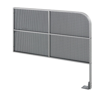 "Commando 36"" X 36"" (Horizontal Dimension X Vertical Dimension) Double Line Wall Mounted Automatic Swing Door Guide Rail With Mesh Panel"