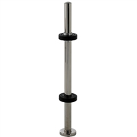 Commando Automatic Door Stainless Steel Tubular Surface Mount Door Protection Guard Post