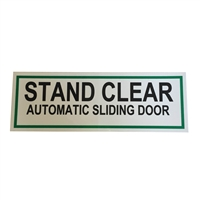 "ADH Select Commercial Automatic Sliding Door ""Stand Clear Automatic Sliding Door"" Double Sided Decal"