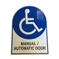"ADH Select Commercial Automatic Swinging Door ""Manual / Automatic Door"" Double Sided Decal Sticker, ANSI and ADA Compliant"
