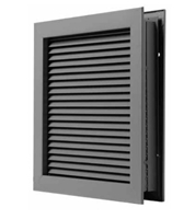 Triton Pandora Inverted Y Blade Blocked Visibility Fire Rated Louver Kit for Commercial Hollow Metal or Wood Door Applications, Specify Size