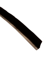 ADH Select Commercial Automatic Sliding Door 32' Roll of Black Adhesive Stick On Felt Pile Weatherstripping