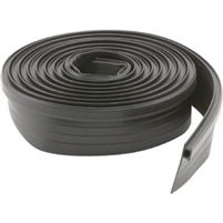 "Prime Line B 660 - Bug Seal, 7/8"" To 1-3/8"" Wide, 7', Black Vinyl, Die# C-0165"