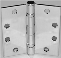 "S. Parker Hardware B1279R-Al4H4N, 4-1/2"" X 4"" Ball Bearing Steel, Fixed Pin With 1/4"" Radius Corners, Prime Coat Aluminum Finish (Box Of 2)"