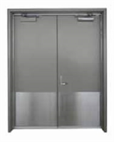 "Cal-Royal Barm3434: Stainless Steel Armor Kick Plate .050"" X 34"" X 34"" With Screws - Us32D Satin Stainless Steel Finish"