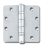 "ADH Select 4-1/2"" X 4"" X 1/8"" Radius Full Mortise Standard Weight Ball Bearing Hinge For Commercial Doors (Pack Of 3)"