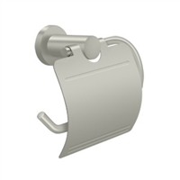 Deltana Bbn2011-15 - Toilet Paper Holder Single Post W/Cover, Bbn Series - Brushed Nickel Finish