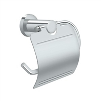 Bbn2011-26 - Toilet Paper Holder Single Post W/Cover, Bbn Series - Polished Chrome Finish