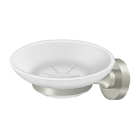 Deltana Bbn2012-15 - Frosted Glass Soap Dish, Bbn Series - Brushed Nickel Finish