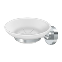Deltana Bbn2012-26 - Frosted Glass Soap Dish, Bbn Series - Polished Chrome Finish