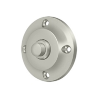 Deltana Bbr213U15 - Bell Button, Round Contemporary - Brushed Nickel Finish