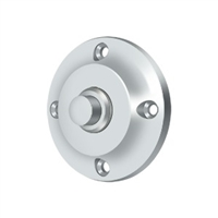 Deltana Bbr213U26 - Bell Button, Round Contemporary - Polished Chrome Finish
