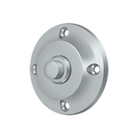 Deltana Bbr213U26D - Bell Button, Round Contemporary - Brushed Chrome Finish