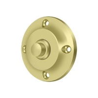 Deltana Bbr213U3 - Bell Button, Round Contemporary - Polished Brass Finish