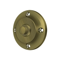 Deltana Bbr213U5 - Bell Button, Round Contemporary - Antique Brass Finish