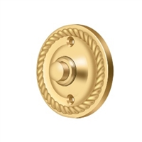 Deltana Bbrr213Cr003 - Bell Button, Round Rope - Pvd Polished Brass Finish