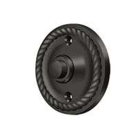 Deltana Bbrr213U10B - Bell Button, Round Rope - Oil-Rubbed Bronze Finish