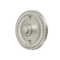 Deltana Bbrr213U15 - Bell Button, Round Rope - Brushed Nickel Finish