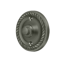 Deltana Bbrr213U15A - Bell Button, Round Rope - Antique Nickel Finish