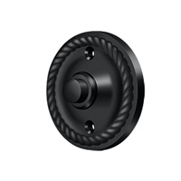 Deltana Bbrr213U19 - Bell Button, Round Rope - Paint Black Finish