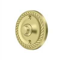 Deltana Bbrr213U3 - Bell Button, Round Rope - Polished Brass Finish
