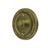 Deltana Bbrr213U5 - Bell Button, Round Rope - Antique Brass Finish