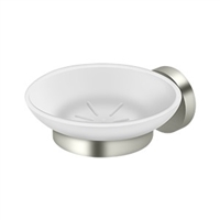 Deltana Bbs2012-14 - Frosted Glass Soap Dish Bbs Series, Polished Nickel Finish