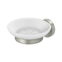 Deltana Bbs2012-15 - Frosted Glass Soap Dish Bbs Series, Brushed Nickel Finish