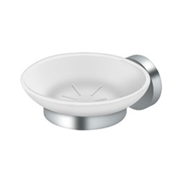 Deltana Bbs2012-26 - Frosted Glass Soap Dish Bbs Series, Polished Chrome Finish