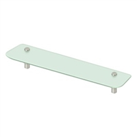 "Deltana Bbs2750-15 - 27-1/2"" Frosted Glass Shelf Bbs Series, Brushed Nickel Finish"