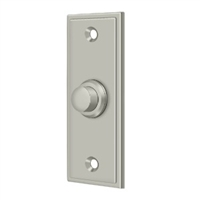 Deltana Bbs333U15 - Bell Button, Rectangular Contemporary - Brushed Nickel Finish